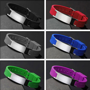 Fashionable 4 in 1 Bio Elements Energy Silicone Bracelet