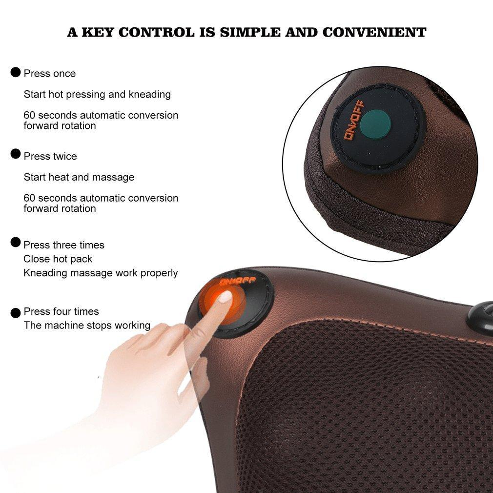 Infrared Heating Shiatsu Massage Cushion
