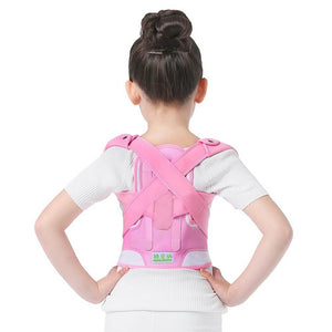 Adjustable Back Posture Corrector Pink for kids