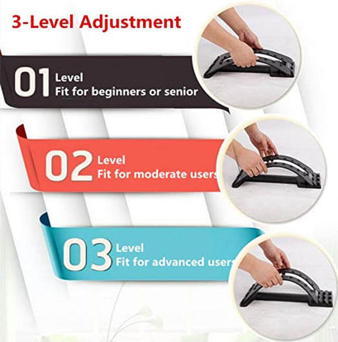 3 Position Lumbar Support Massager Muscle Stretcher