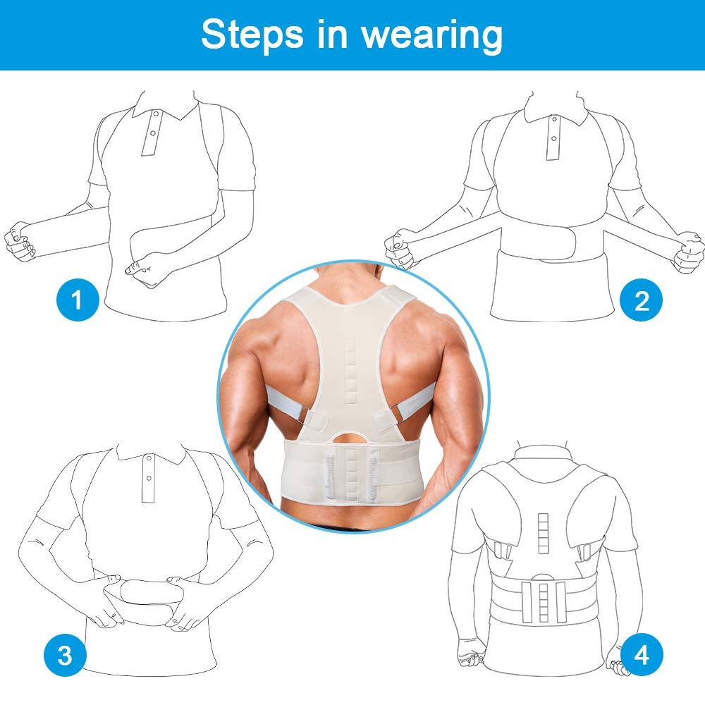 Magnetic Back Shoulder Lumbar Posture Corrector Support Humpback Correction Belt Strap