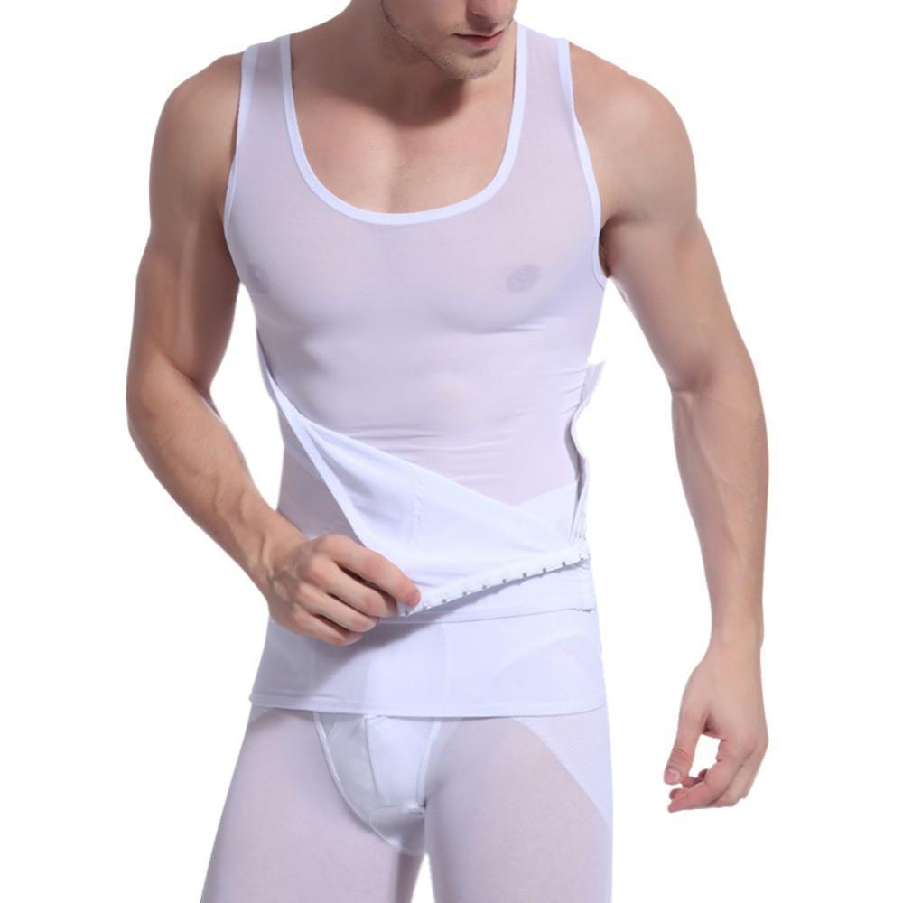 Mens Stomach Compression Shirt