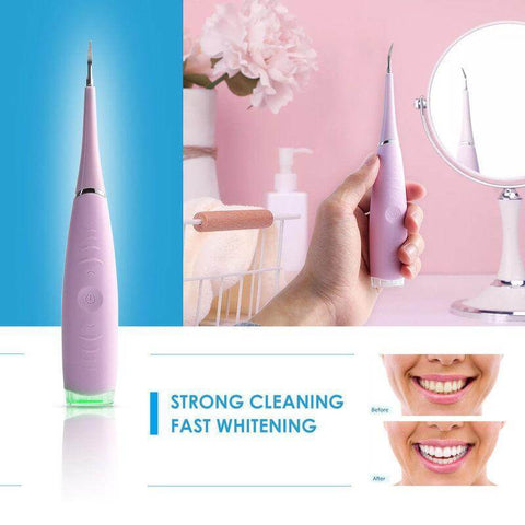 Electric Sonic Dental Calculus Plaque Remover Scaler Tooth Stains Clean