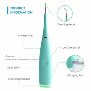 Top New Waterproof Electric Sonic Dental Calculus Remover Scaler Teeth Stains Tool