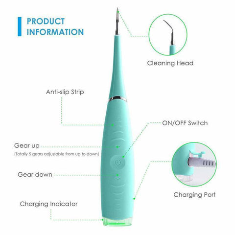 Electric Sonic Dental Scaler Tartar Calculus Plaque Remover Tooth Stains Tools Reviews