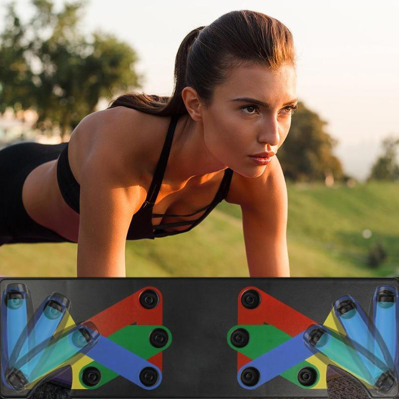 Body Building Push Up Rack Board System Fitness Comprehensive Exercise Workout Training Gym Exercise