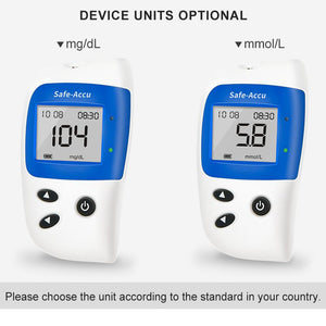 mg/dL mmol/L Blood Glucose Meter Diabetes Tester Kit