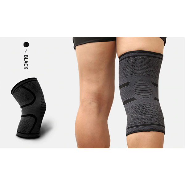 Compression Knee Sleeve Brace Patella Stabilizer Support Black