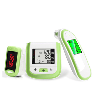 Blood Pressure Monitor + Pulse Oximeter + Infrared Thermometer Gift Pack