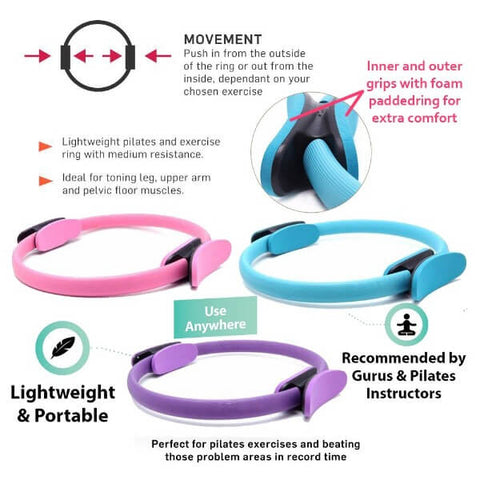 Pilates Yoga Dual Grip Resistance Full Body Toning Ring