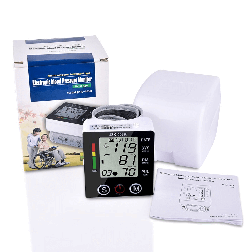 Wrist Blood Pressure Monitor With Carrying Case V2