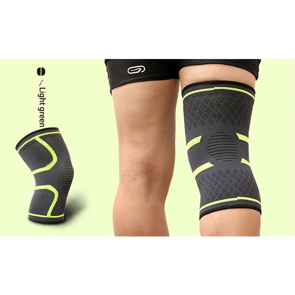 Compression Knee Sleeve Brace Patella Stabilizer Support Yellow