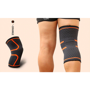 Compression Knee Sleeve Brace Patella Stabilizer Support Orange