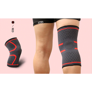 Compression Knee Sleeve Brace Patella Stabilizer Support Red