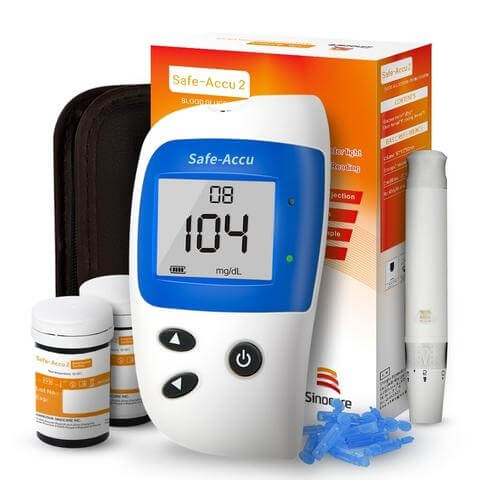 Blood Glucose Meter Blood Sugar Detection Durable Plastic Body Care Monitoring System