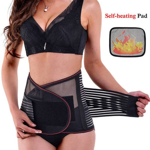 Lumbar Support with Removable Fever Pad Self-heating Magnetic Therapy
