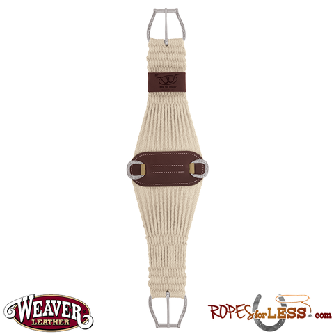 Weaver 100% Mohair 27 Strand Roper Cinch with Jeremiah Watt Buckles