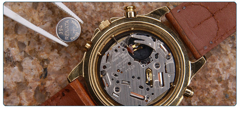 Watch battery replacement riverside le vive jewelry for Watches battery