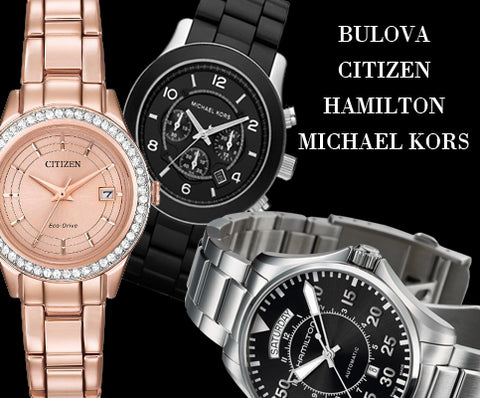 New and pre-owned brand watches bulova, citizen, michael kors, hamilton