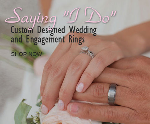 Wedding engagement rings and bands