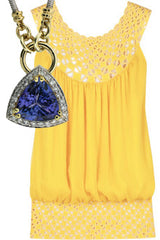 blue tanzanite gemstone with yellow top - Le Vive Jewelry, Riverside, Ca