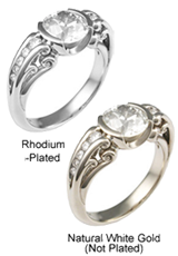 Re-dipping White gold Rings, Rhodium