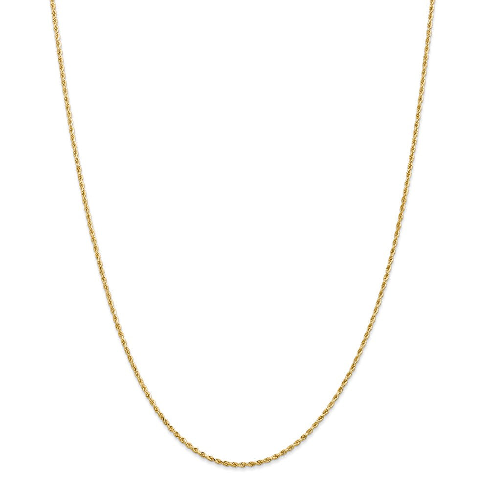 14k 1.50mm Diamond Cut Rope Chain with Lobster Clasp