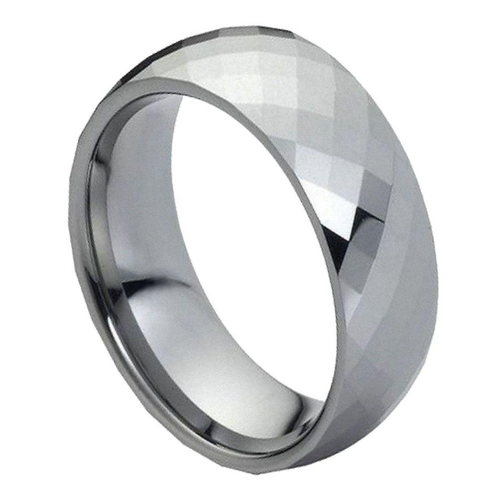 Domed Faceted Ring - 8mm