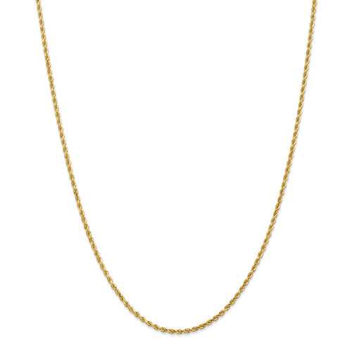 14k 2mm Diamond Cut Rope with Lobster Clasp Chain
