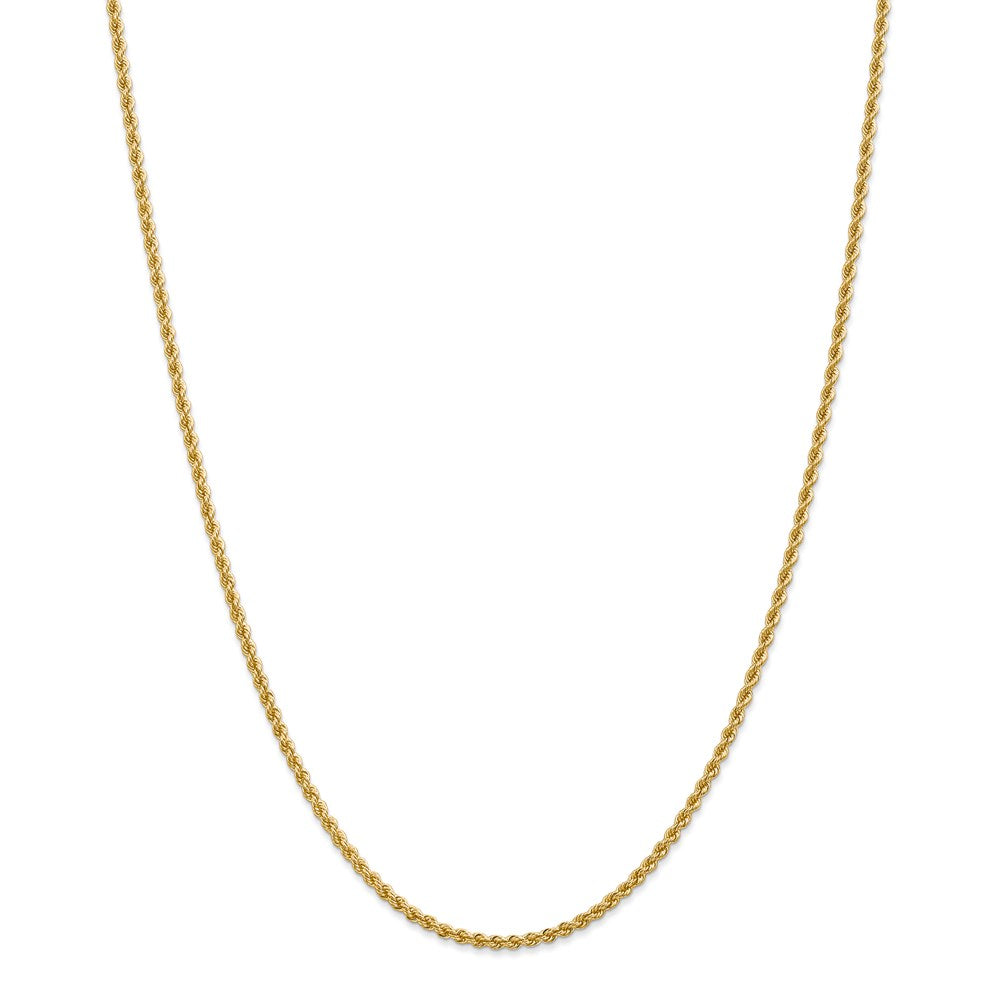 14k 2.25mm Classic Rope Chain