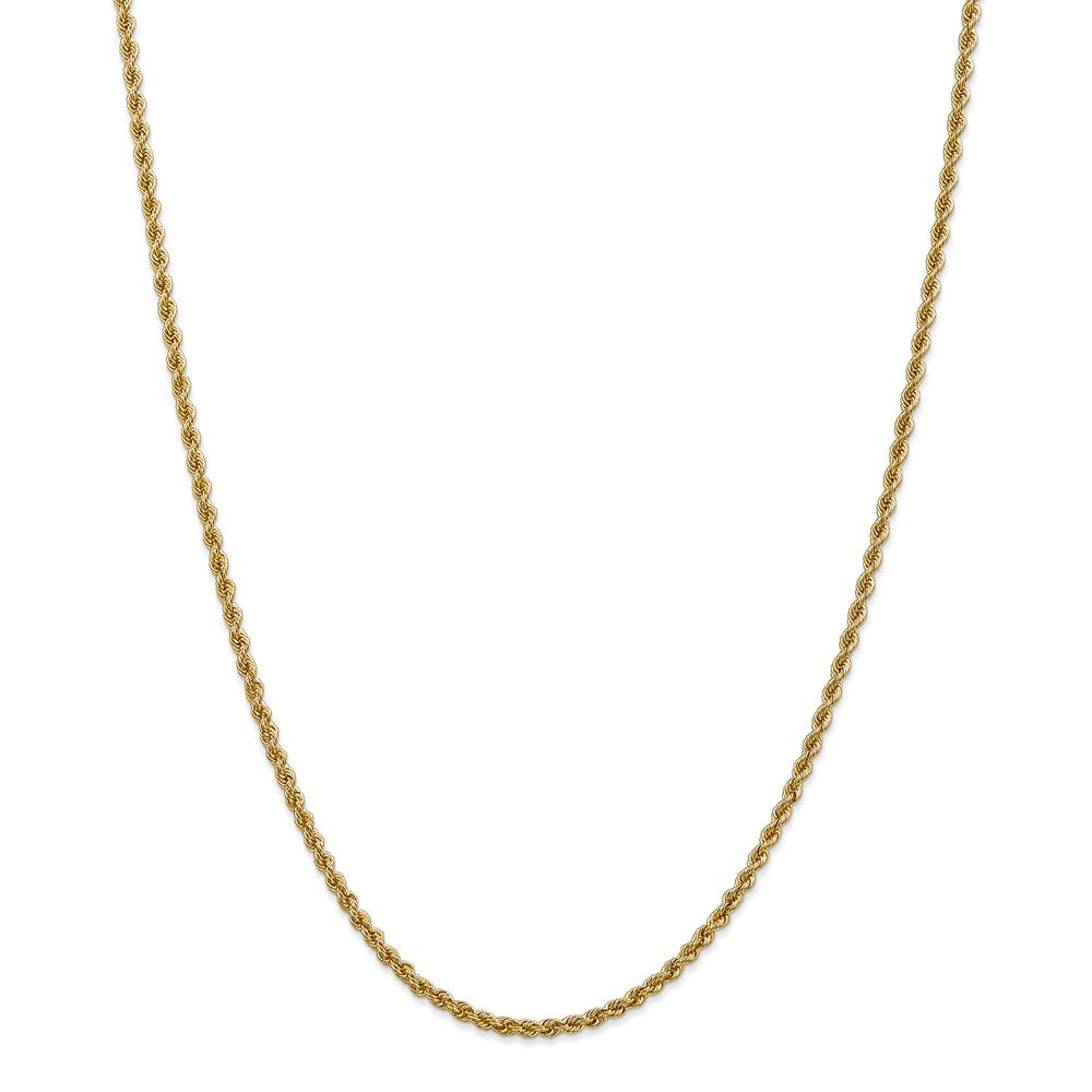 14k 2.5mm Classic Rope Chain