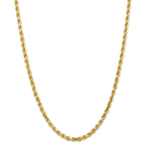 14k 4.5mm Diamond-Cut Rope with Lobster Clasp Chain