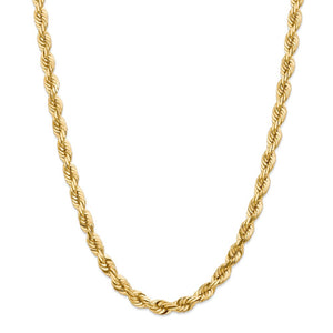14k 7mm Diamond-Cut Rope Chain