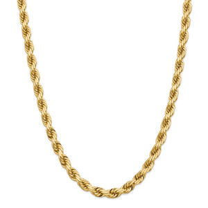 14k 8mm Diamond-Cut Rope Chain