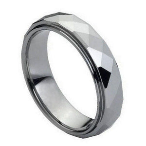 Domed Faceted Ring Stepped Edge- 6mm