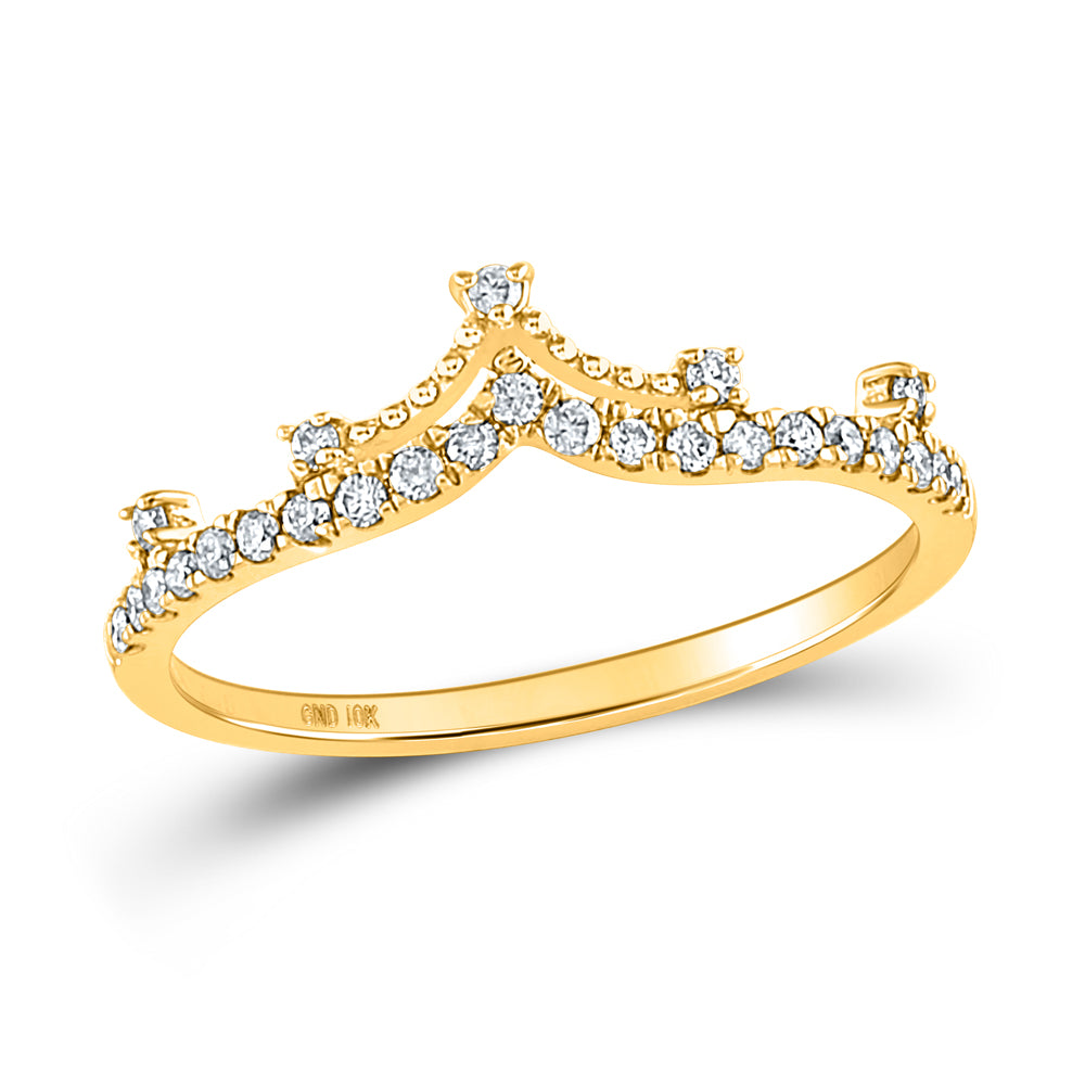10K Gold 1/5 Carat TW Diamond Stackable Band