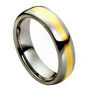 High Polished Yellow Gold IP Plated Center - 6mm