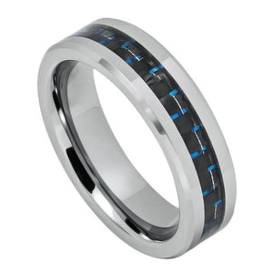 Black & Blue Carbon Fiber Inlay- 6mm