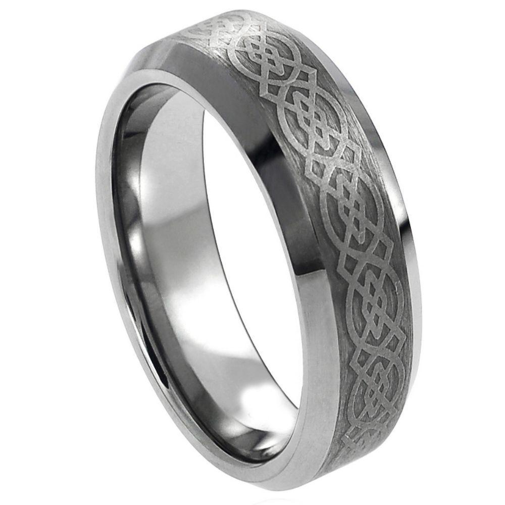 Laser Engraved Celtic Pattern- 6mm