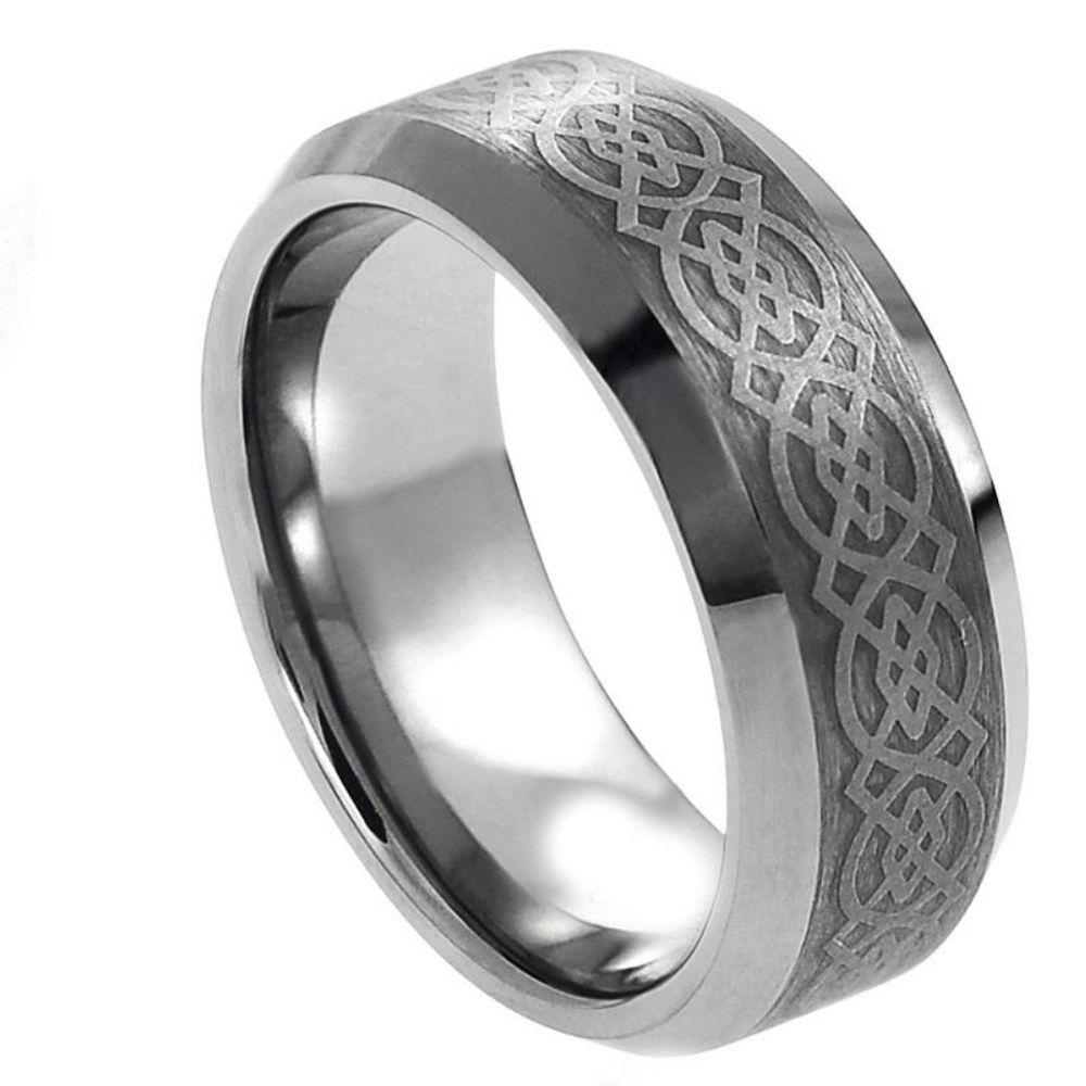 Laser Engraved Celtic Pattern - 8mm