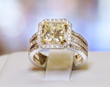 18K White Gold 2.06ct Princess Cut Engagement Ring - BRI01021