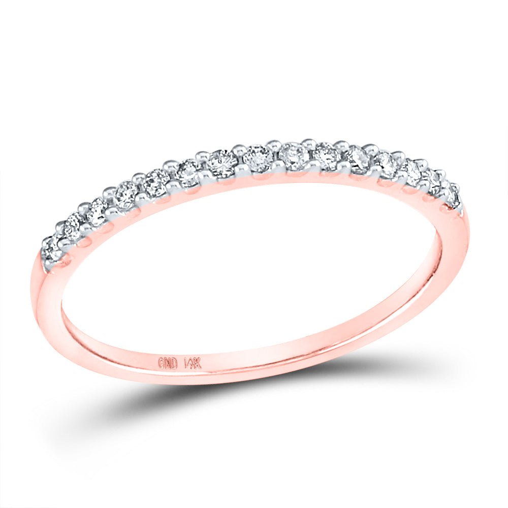 14K Rose Gold 1/6 Carat TW Diamond Band