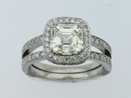 VERRAGIO Platinum 2. Carat Center Engagement Ring - BRI01274