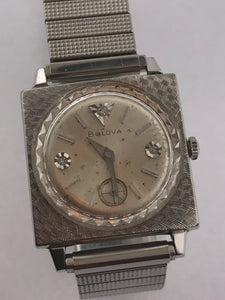Men's Vintage Bulova 10K/GF Squared Watch