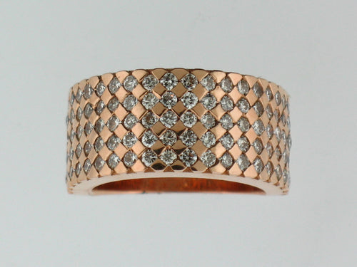 Diamond Band, 14k Rose Gold - Le Vive Jewelry in Riverside