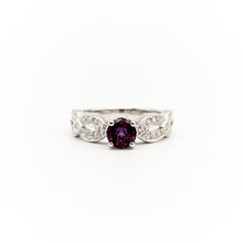 Load image into Gallery viewer, 18k White Gold  Round Alexandrite And Diamond Ring