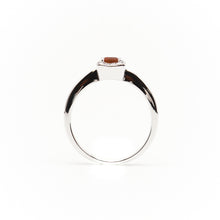 Load image into Gallery viewer, 18k White Gold Petite Ruby and Diamond Ring