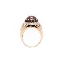 Load image into Gallery viewer, 14k Rose Gold Custom Natural Star Ruby and Diamond Ring