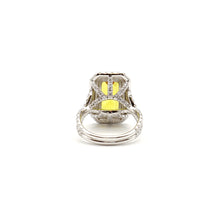 Load image into Gallery viewer, Yellow Sapphire & Diamond Master Piece Ladies Ring, 14 Karat White Gold