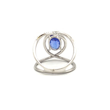 Load image into Gallery viewer, 14K White Gold Blue Tanzanite Ring